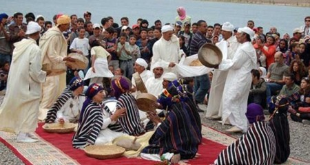 Traditional Dancing at Imilchil Marriage Festival  Photo: Exploring Morocco