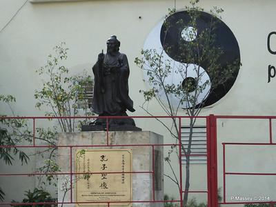 Statue of Confucius Shanghai Park Havana 31-01-2014 10-42-044-S