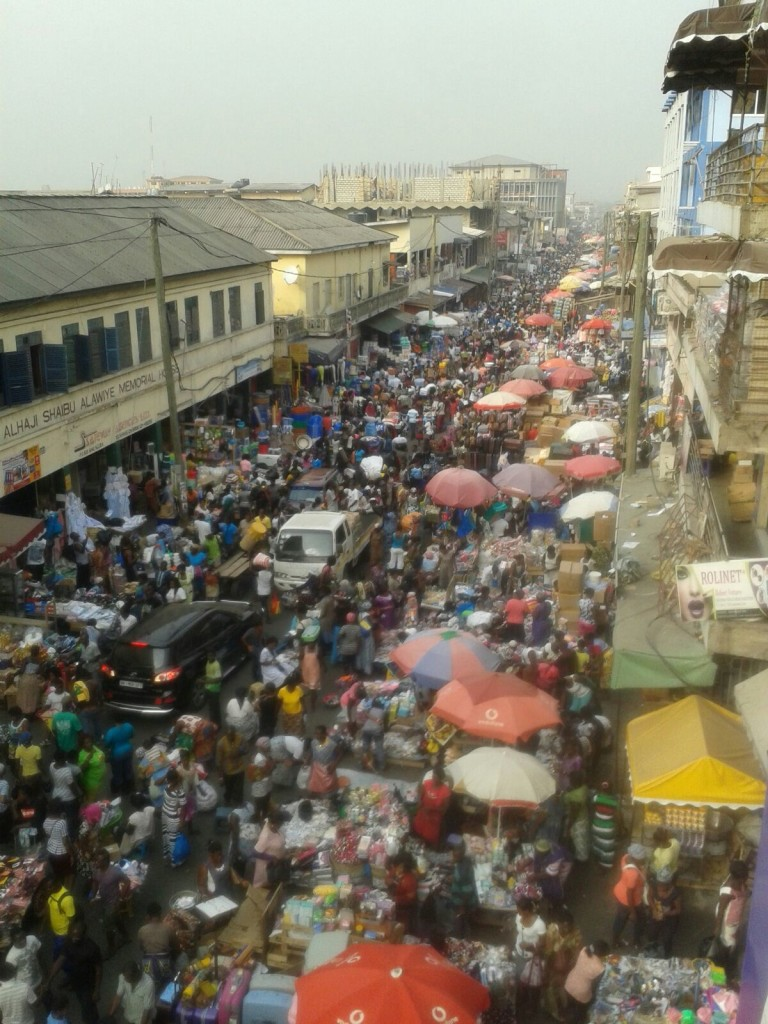 Markola Market, a prominent and informal market in the heart of Accra. Photo by: Michael Lee