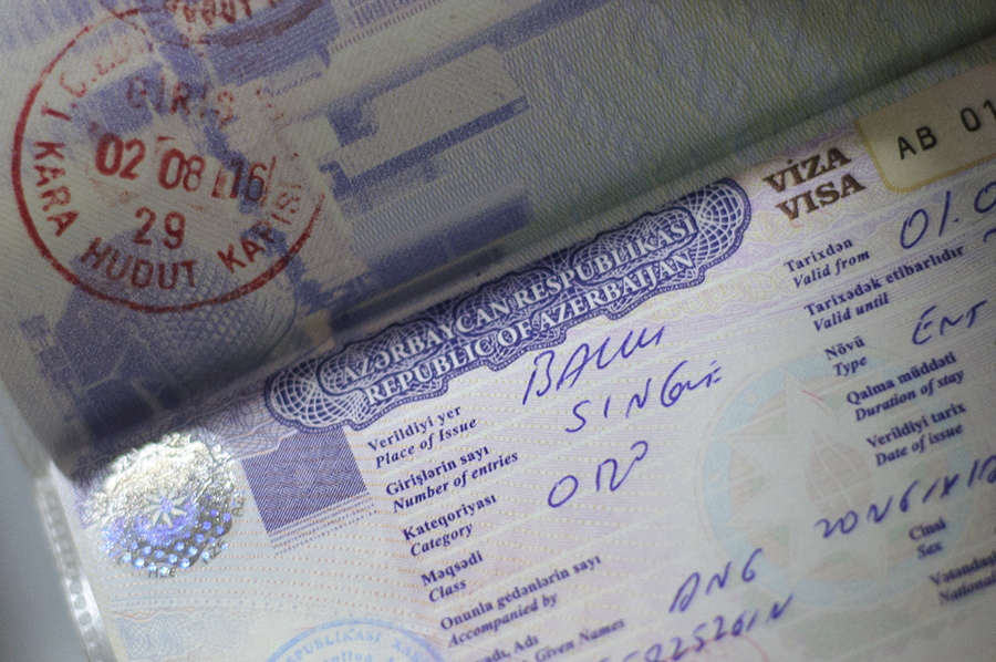 My visa to Azerbaijan obtained on arrival in Baku