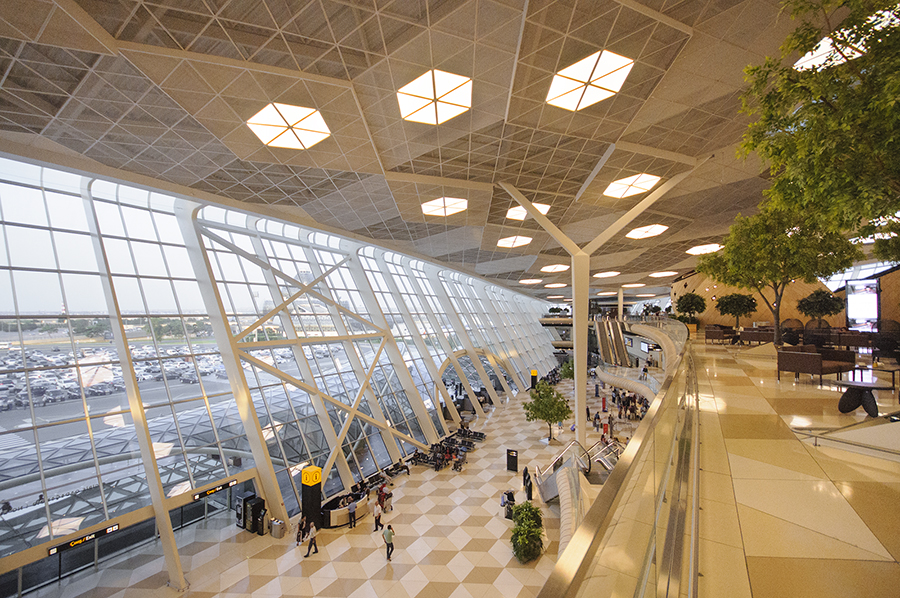 You can use wifi anywhere inside the Heydar Aliyev International Airport