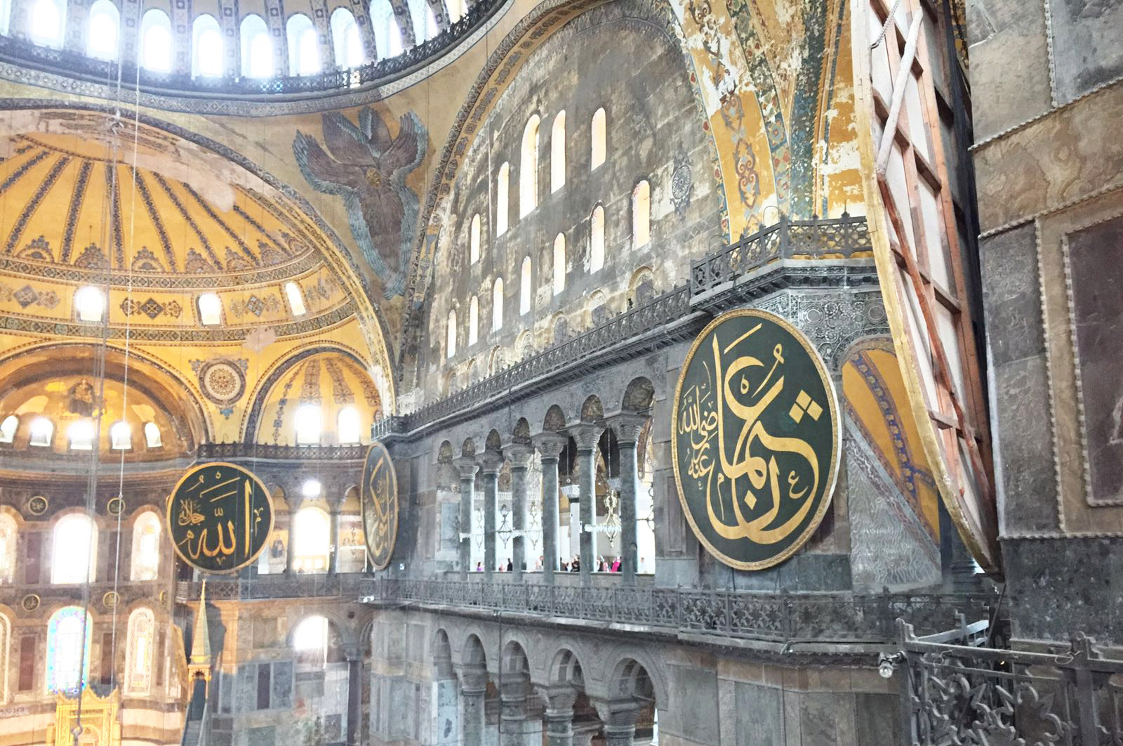 The Interior of Hagia Sophia PHOTO: Ahmad Mubeen