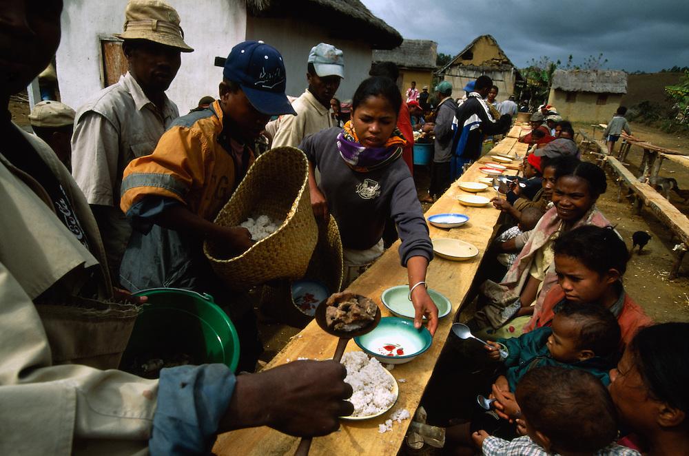 Reburial ceremony in Madagascar