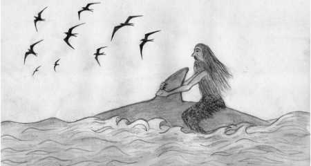 Sketch of the Man on the Whale — 